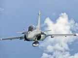 A Dassault Rafale of the French Air Force in Flight over Brazil