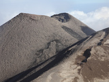 Southeast Crater of Mount Etna Volcano  Sicily  Italy