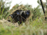 A German Bundeswehr Soldier Camouflages Himself to Blend into His Surroundings