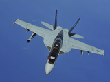 A US Navy F/A-18F Super Hornet in Flight Near Joint Base Pearl Harbor-Hickam  Hawaii