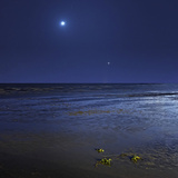 Venus Shines Brightly Below the Crescent Moon from Coast of Buenos Aires  Argentina