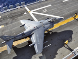 An AV-8B Harrier  Prepares to Takeoff from USS Peleliu