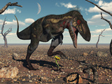 A Nanotyrannus Crushes the Last Flower in a Prehistoric Landscape