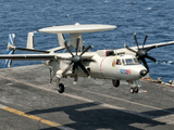 A US Navy E-2C Hawkeye Prepares to Land Aboard USS Eisenhower