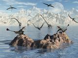 Eudimorphodon's Fishing for their Next Meal