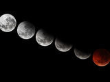 A Composite Showing Different Stages of the 2010 Solstice Total Moon Eclipse