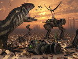 Dinosaurs and Robots Fight a War of the Survival of the Fittest