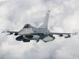 An F-16 from the Colorado Air National Guard in Flight over Brazil