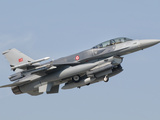 A Turkish-Built F-16 in Flight at the Izmir Air Show in Turkey