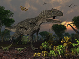 Prehistoric Dinosaurs Roam Freely Where Time Stands Still
