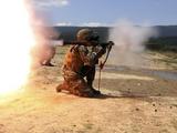 An Assaultman Fires a Rocket Propelled Grenade
