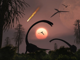 Artist&#39;s Concept of the Extinction of Prehistoric Earth