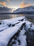 A Cold Morning in Grovfjorden  Troms County  Norway
