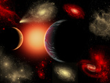 Artist&#39;s Concept of the Cosmic Wonders of the Universe