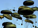 A US Air Force C-17 Globemaster III Airdrops Pallets to Port-Au-Prince  Haiti