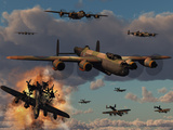 Lancaster Heavy Bombers of the Royal Air Force Bomber Command