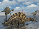 A Group of Spinosaurus