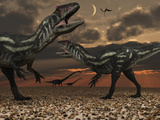 Allosaurus Dinosaurs Stalk their Next Meal