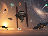 Spaceships Used by Different Alien Races are Scattered Throughout the Galaxy