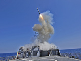 USS Barry Launches a Tomahawk Cruise Missile