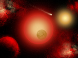 A Distant Binary Star System Located Within the Milky Way