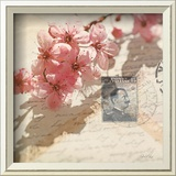 Vintage Letters and Cherry Blossoms