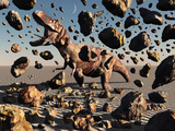 The Powerful T-Rex Shatters its Rock Suit Encasing