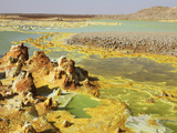 Potassium Salt Deposits  Dallol Geothermal Area  Danakil Depression  Ethiopia