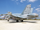 A Canadian Air Force F/A-18 Hornet Armed with Weapons