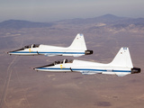 Two T-38A Mission Support Aircraft Fly in Tight Formation