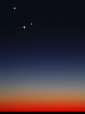 Venus  Mercury and Mars Above the Glowing Horizon at Dawn