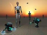 Androids and Robots Explore an Alien World