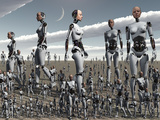 Artist's Concept of an Abundance of Androids with Artificial Intelligence