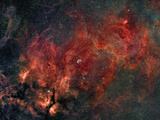 Widefield View of He Crescent Nebula