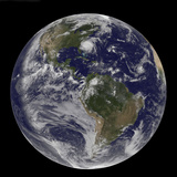 Full Earth with Hurricane Irene Visible on the United States East Coast