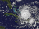 Satellite View of the Eye of Hurricane Irene as it Enters the Bahamas