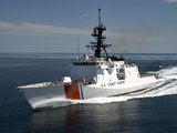 US Coast Guard Cutter Waesche in the Navigates the Gulf of Mexico