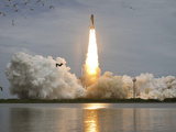 Space Shuttle Atlantis Lifts Off from the Kennedy Space Center  Florida