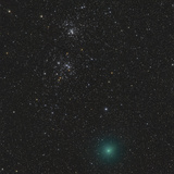 Comet Hartley 2 and the Double Cluster