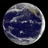 Satellite Image of Earth Centered over the Pacific Ocean