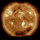 A Massive X-Class Solar Flare Erupts on the Sun