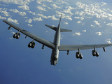 A US Air Force B-52 Stratofortress Flies a Mission over the Pacific Ocean