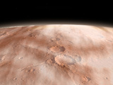 High Altitude Clouds of Water Ice Crystals on the Planet Mars
