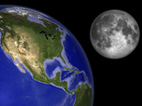 Artist&#39;s Concept of the Earth and its Moon