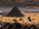 Pyramids and Sphinx Appear on Many Planets in the known Galaxy