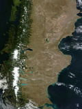 Satellite View of the Patagonia Region in South America