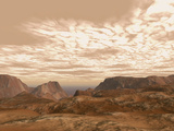 Artist's Concept from Atop Olympus Mons on the Planet Mars