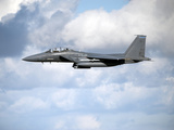 A United States Air Force F-15 Strike Eagle in Flight