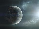 Fleet of Colonization Ships Departing an Earth-Like Planet