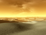 Artist's Concept of the Terrain Near the South Pole of Mars